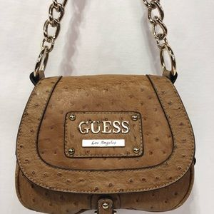 GUESS brown Ostrich Small Handbag